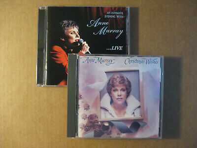 ANNE MURRAY - Christmas Wishes & Live: An Intimate Evening  (2 CD LOT) • 12.99$