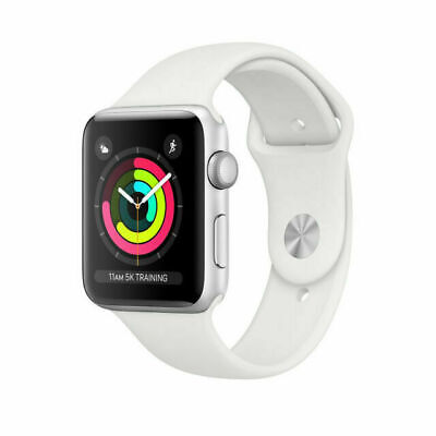 $ CDN377.58 • Buy Apple Watch Series 3 GPS With White Sport Band 38mm Silver Model MTEY2LL/A
