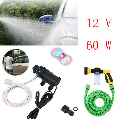 High Pressure Car Washer Tool Set Car Washing Tool 12V 60W  Water Pump Portable • 21.09$