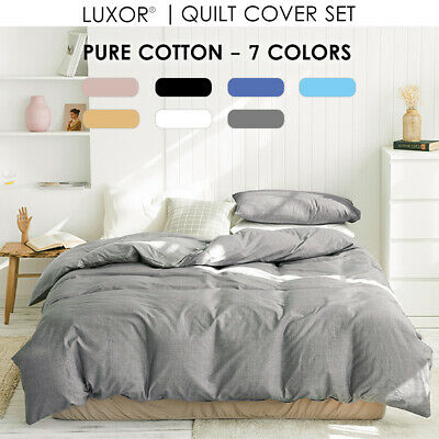AU45 • Buy 100% Cotton All Size 1000TC Bed Quilt Duvet Doona Cover Set  Bedding Pillowcase