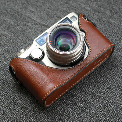 $ CDN63.12 • Buy Funper Genuine Leather Half Case Fr Contax G2 Camera Protector Without Data Back
