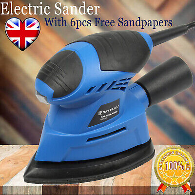 Hand Held Electric Power Sander Sanding Sheet For Walls Floors Wooden Furniture • 19.49£