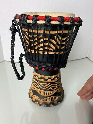 9  African Carved Djembe Drum Bongo • 30$