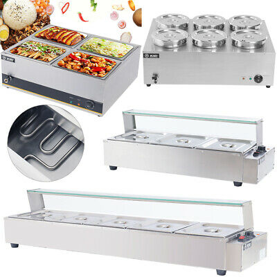 £125.95 • Buy Commercial Electric Food Warmer Stainless Steel Bain Marie Buffet Wet Well Heat