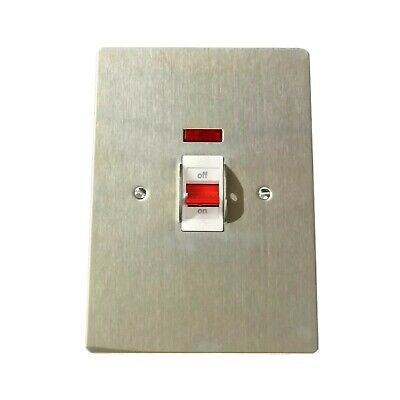 MK K14114BSSW 'Edge' Isolator Switch TP&N 440V 32 Amp (Brushed Stainless Steel) • 29.95£