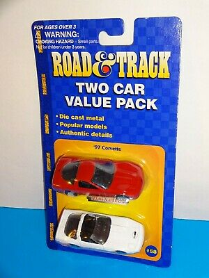 $ CDN7.26 • Buy Maisto Road & Track Two Car Value Pack '97 Corvette Red & Corvette ZR-1 White
