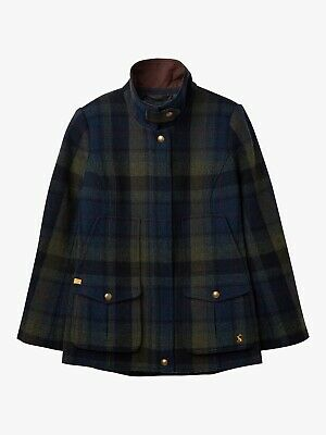 Joules Ladies Green And Blue Tweed Fieldcoat Brand New With Tags • 199£