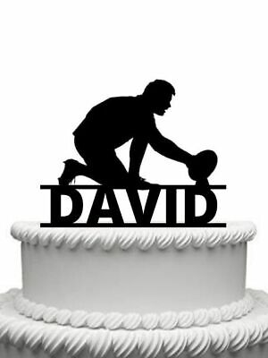 £9.99 • Buy Personalised Rugby Player Gloss Acrylic Cake Topper Any Name