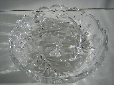 Vintage 8  ABP Cut Glass Bowl Candy Dish Signed Libbey • 44.95$
