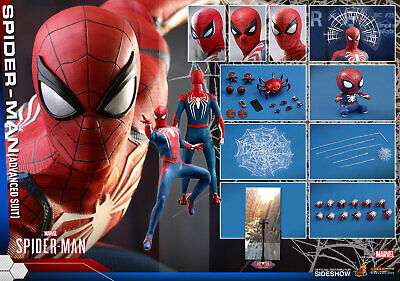 HOT TOYS VGM31 MARVEL SPIDER-MAN ADVANCED SUIT 1:6 FIGURE ~Sealed In Brown Box~ • 233.99$