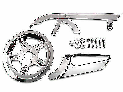 Chrome Belt Guard And Pulley Cover Kit For Harley Davidson By V-Twin • 159.07$