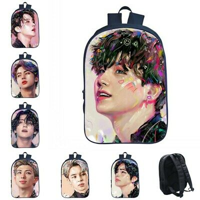 $29.99 • Buy Bangtan Boys BTS Backpack 3D Hand Painted Unisex Shoulder School Bag Students