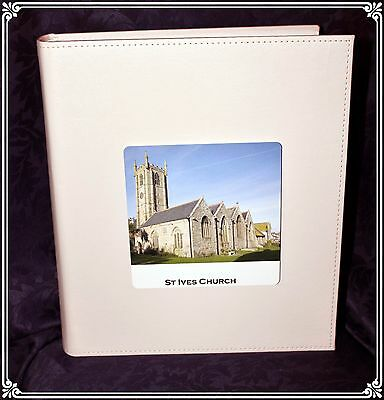 Large White Book-bound Traditional Wedding Personalised Photo Album Special #1 • 39.99£