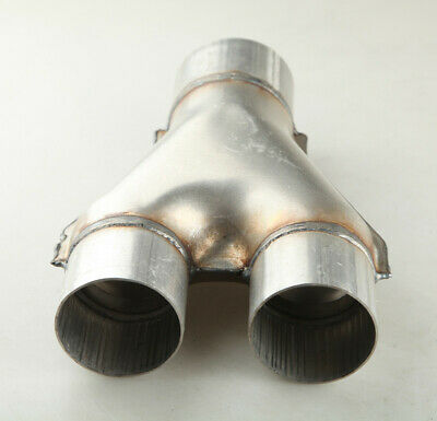 AU31.05 • Buy AU STOCK 2  Inlet 2.5  Outlet Universal Exhaust Y Pipe Joiner Aluminized Steel