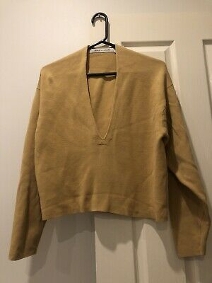 AU18.50 • Buy Uniqlo Lemaire Yellow Top Cropped Size Medium