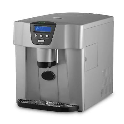 NutriChef PICEM75 2-Size Silver Ice Cube Maker Countertop Water/Ice Dispenser • 130$