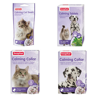 £4.40 • Buy Beaphar Calming Cat Or Dog Treats, Tablets Or Collars - You Choose