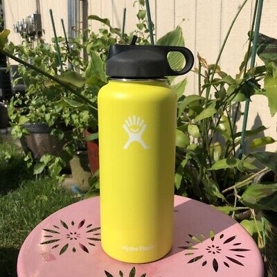 Hydro Flask Water Bottle| Stainless Steel &Vacuum Insulated 32 Oz-Straw Lid NEW • 30.97$