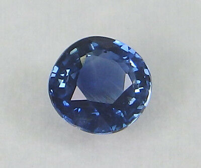 Sri Lanka Unheated Natural Royal Blue Sapphire Oval 5.04 Mm X 4.96 Mm • 20$