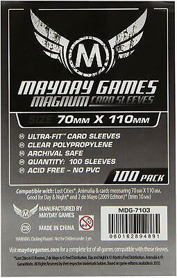 $5.58 • Buy MDG7103 Mayday Games - Magnum Silver Sleeves 70mm X 110mm (Lost Cities) (100)