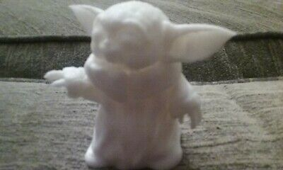 $10 • Buy Baby Yoda Smile Figurine. 3D Printed PLA. White Easy To Paint. Star Wars Statue