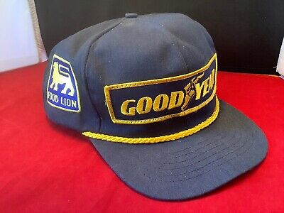Vtg Goodyear Racing Tires Snapback Cap Truckers Hat USA Swingster Patch Nice G25 • 21.95$