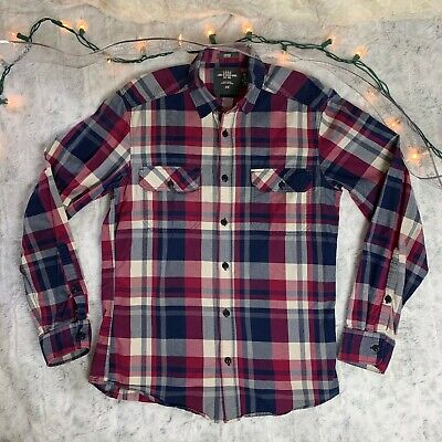 Label Of Graded Goods H&M Fitted Long Sleeve Button Shirt Plaid Mens S LOGG EUC • 12$