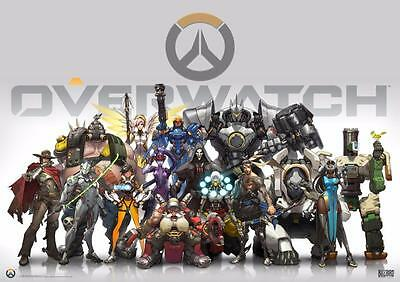 AU8.43 • Buy A3 Size - Overwatch Video Game Art Wall Chart Posters