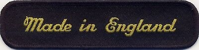 Made In England Woven Badge Patch 130mm X 33mm • 2.61£