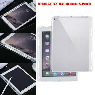 AU13.52 • Buy Soft TPU Tablet Case Transparent Slim Cover With Pencil Holder For Ipad Air1/2