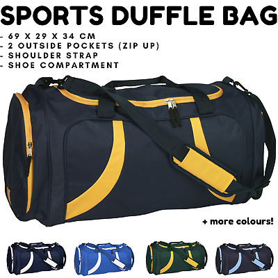 AU29.95 • Buy SPORTS BAG LARGE W Shoulder Strap Gym Duffle Travel Bags Water Resistant