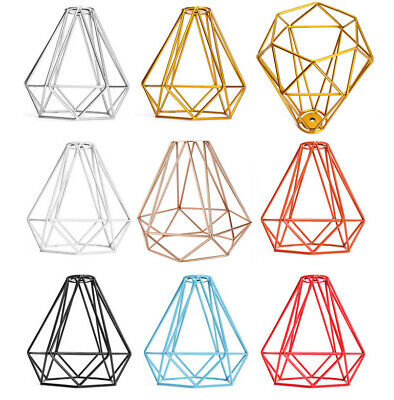 £8.99 • Buy Metal Wire Pendant Light Shade Ceiling Industrial Geometric Cage Lampshade Lamp