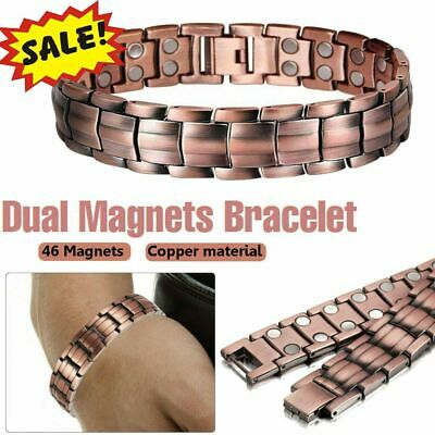 $11.43 • Buy Mens Women Magnetic Therapy Bracelet Arthritis Pain Relief Pure Copper Bangle