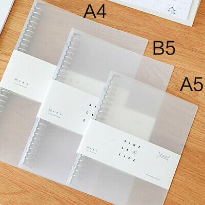 AU10.45 • Buy Transparent Plastic Notebook Journal Loose Leaf Ring Binder Clip Folder MA