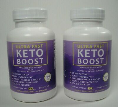 2 PACK Ultra Fast Keto Boost Weight Loss Pills Ketosis BHB Supplement FREE SHIP • 27.99$