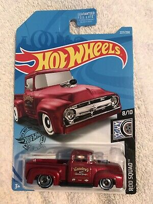 Hot Wheels 2019 Kroger Exclusive Custom '56 Ford Truck Red • 5.69$