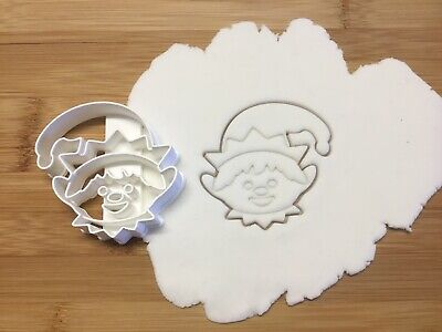 Christmas Elf Head Cookie Cutter Biscuit, Pastry, Fondant Cutter • 4.99£
