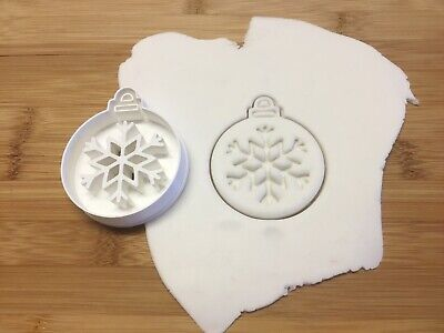 £5.30 • Buy Christmas Bauble Cookie Cutter Biscuit, Pastry, Fondant, Bread Cutter