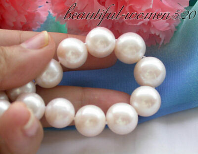 $126 • Buy Z4180 Big 17  14mm White Round Freshwater Cultured Pearl Necklace Mabe