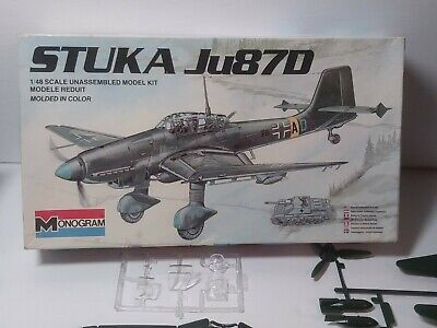 $14 • Buy Vintage, Monogram, 1 / 48 Scale Ju 87 Stuka Dive Bomber Pre-owned