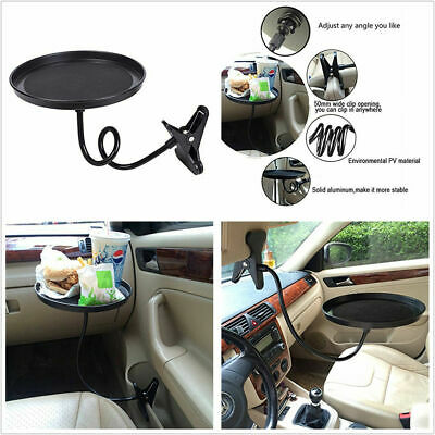 $17.99 • Buy Black Plastic Car Swivel Mount Holder Cup Drink Food Tray Table Stand Bracket