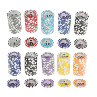 £25.62 • Buy 100pcs/pack Poker Chips Casino Supply Board Cards Game Token   Chip 4cm