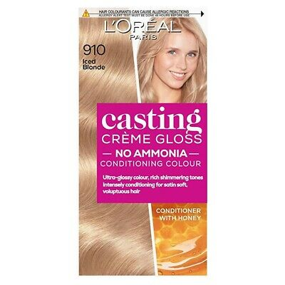L'Oreal Casting Creme Gloss 910 Iced Blonde Semi Permanent Hair Dye • 5.99£