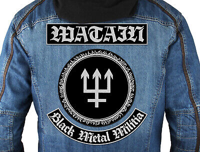 $40 • Buy WATAIN (Black Metal Militia) SET Of 3 Embroidered Back Patches. Black Metal.