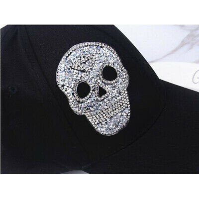£5.49 • Buy 6Pcs Sparkle Iron On Sewing On Skull Patch Diamante Applique DIY Bag Purse Craft
