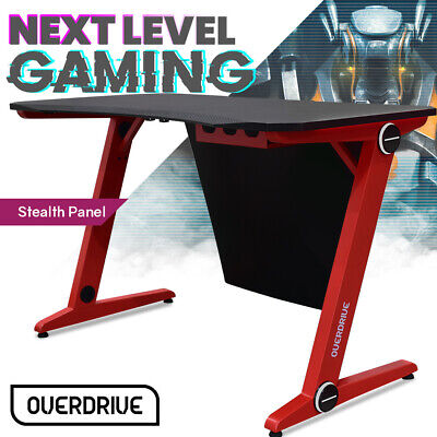 AU179 • Buy OVERDRIVE Gaming Chair Desk Racing Seat Setup PC Combo Office Table Black Red