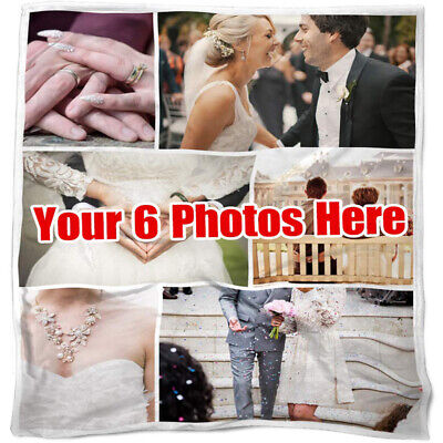 Custom Photos Collage Blanket Pictures Personalized Throw Birthday Wedding Gifts • 29.92£