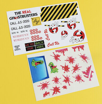 GHOSTBUSTERS ECTO1A 1/10 RC  Stickers Decal Set Ecto 1 1A • 10.95£