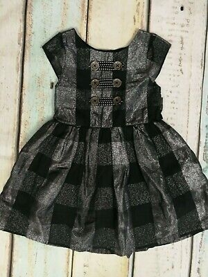 Bluezoo Girls Silver Thread Checked Short Sleeved Dress Age 4 Years • 9.99£