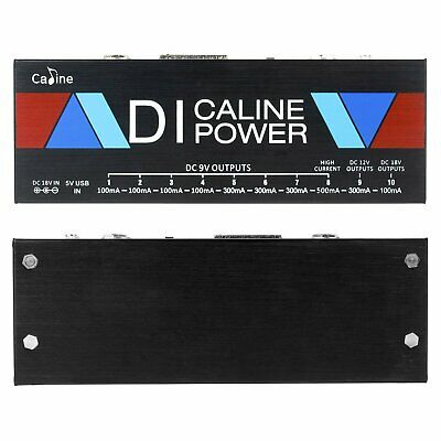 $ CDN75.49 • Buy Guitar Pedal Power Supply DI Box Isolated 10-Ways Output 9V/12V/18V Effect Pedal